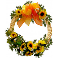 Sunflowers Wreath