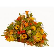 Morgan - Mixed flowers in basket