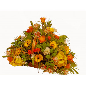 Morgan - Mixed flowers in basket