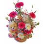New born girl - flower basket