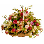Anna - Mixed flowers in basket