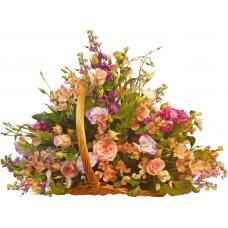 Penelope - Mixed flowers in basket