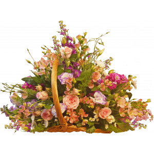 Penelope - Mixed flowers in basket