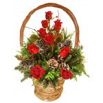 We Wish You a Merry Christmas! - Fresh flowers decorations