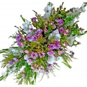Вдъхновение в бяло - Аранжировка с цветя