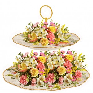 Tiffany - flower arrangement on Cake Stand Centerpiece