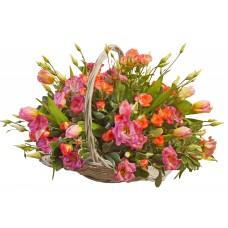 Дезире - Цветя микс в кошница
