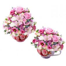 Кристин - Цветя в порцеланови чаши