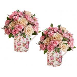 Красива градина - Цветя в порцеланови чаши