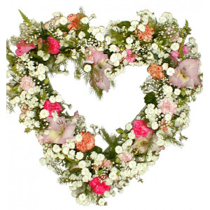 Сантиментална изненада - Сърце от цветя