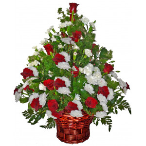 With great gratitude - Flowers basket