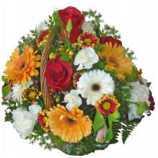 Флора - кошница цветя микс