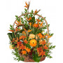 Exotic Strelitzia Basket