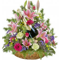 Madison - Flowers and wine basket