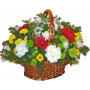 Шарена черга - Кошница цветя микс