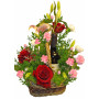 It*s Your Day! Flowers and wine basket