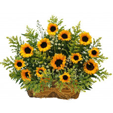 Sunflower delight - Flower basket