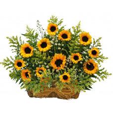Sunflower delight - Flower basket