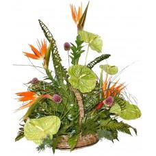 Кошница Екзотик - Кошница с екзотични цветя