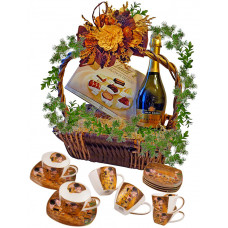 THE KISS - Coffee Set in Basket