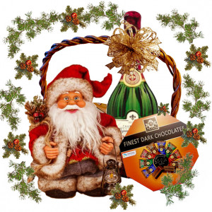 Merry Christmas Wishes Basket