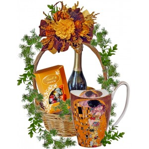 THE KISS - Grande Mug in Basket