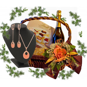 Jewelry Set in gift basket