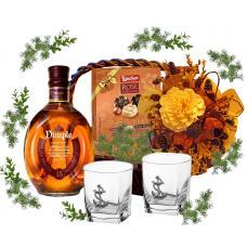 Set of 2 whiskey glasses in gift basket