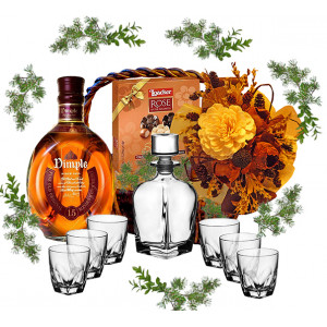 Whiskey Set in gift basket