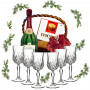 Wine glasses in gift basket # 2