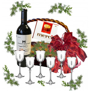 Wine glasses in gift basket # 3