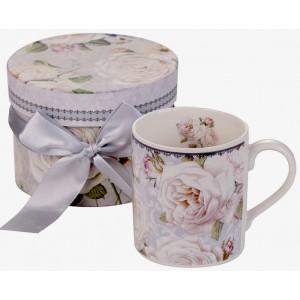 Бяла роза - Порцеланова чаша