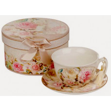 Porcelain Set Cup and Saucer - Roses