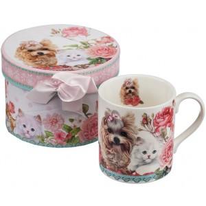 Коте и куче - Порцеланова чаша - мъг