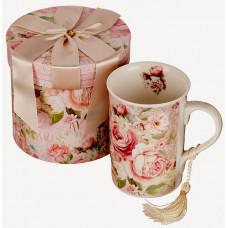 Porcelain Cup - Cappuccino Mug - Roses