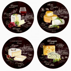 Set 4 plates - World of Cheese