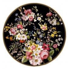 Desert Plate - Blooming Opulence Black