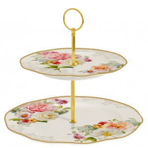 2 Tier Cake Plate - Romantic Lace