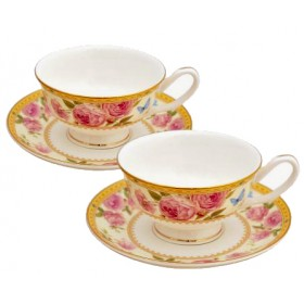 Set of 2 cups & plates - LANCASTER