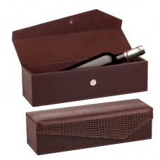 Leather wine box & A bottle of wine