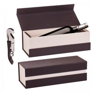 Bacchus - Wine box & A bottle of wine