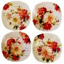 Charlotte # 2 - Roses and  Set 4 plates - Season Flowers