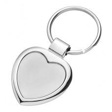 Key Chain Heart SILVER FLAME