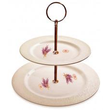 2 Tier Cake Plate Lavender