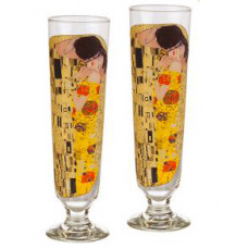 The Kiss - 2 Cocktail Glasses