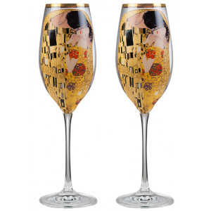 The kiss - 2 glasses of champagne