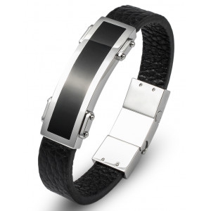 Plate Leather Men's Bracelet
