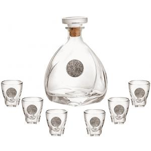 Wine box with accessories and a bottle of wine