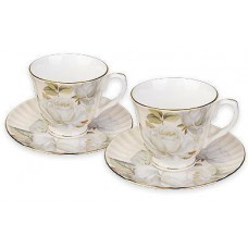 Чаши за кафе - Бели рози