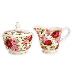ENGLISH ROSES - Sugar and Creamer Set